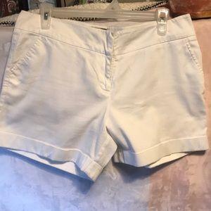White shorty shorts
